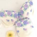 ボディハッピー フラワーガーデンブラジャーショーツセット ニッセンのモニターでいただきました!お花柄がかわいいブラ&ショーツのセット。ブラはほどよいホールド感があり、付け心地よいで…のInstagram画像