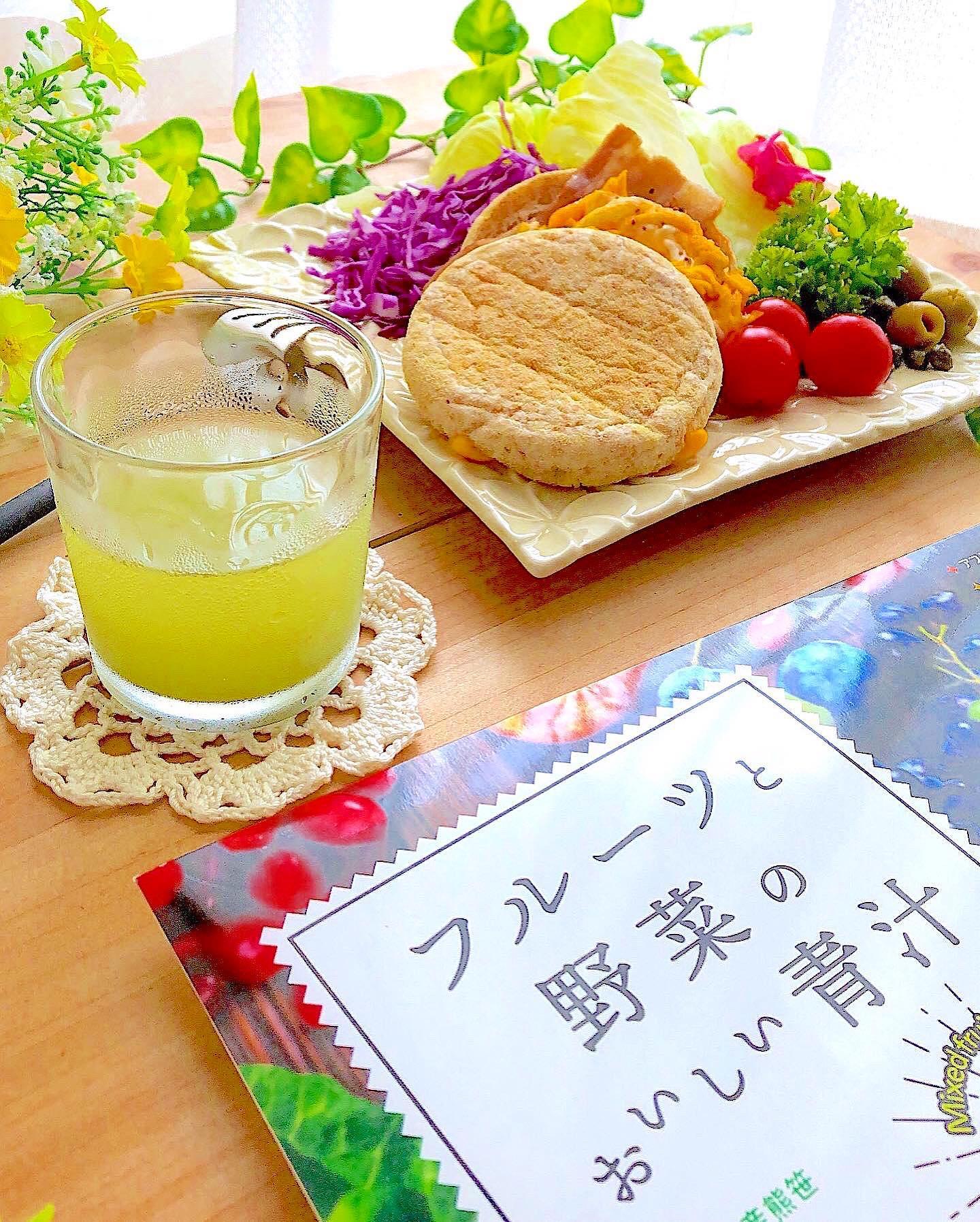 口コミ投稿:こんにちは😃#今日のお昼ごはん✿︎全粒粉マフィンのサンドイッチ✿︎リファータ・…