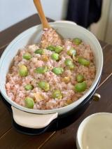 そら豆の炊き込みご飯と歯磨き粉の画像(1枚目)