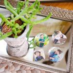 .Favorite badge.前々から作ってみたかった息子のバッジを、ついに作ったよ〜😊💓笑.息子の写真で、バッジを作ってみたいなぁと思っていたので出来上がって嬉…のInstagram画像