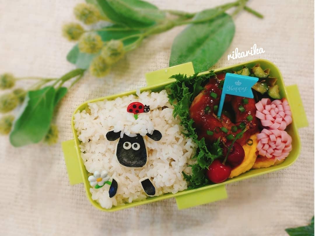 口コミ投稿:.....今日は簡単に.羊のショーン弁当🍱...さっき知ったんだけど.今日は世界的に有名な…
