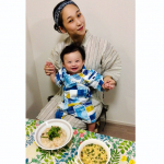 Feel the summer in Jinbei( ゚∀゚)o彡゚マツリジャア!Healthy recipe supervised by a dietitian╰( ^o^)╮-。・*・:≡🍚…のInstagram画像