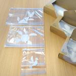 LOHACO限定のスライダーバッグ.シンプルなアニマル柄の袋はスライド式のジッパー付き!SサイズはA6MサイズはB5LサイズはA4 がぴったり入るサイズ.キッチンに馴染むボック…のInstagram画像