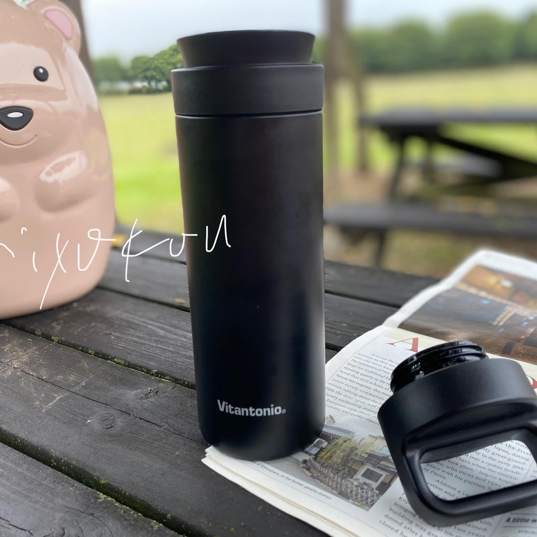 口コミ投稿:いつでも、どこでも、フレンチプレスコーヒーが楽しめるコーヒープレスボトル!ボト…