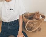 ♡猫との暮らしはパラダイス物事の考え方がずいぶん変わった、TOPS @assacjapan DENIM @uniqlo BAG @u_dresser 、、、、…のInstagram画像