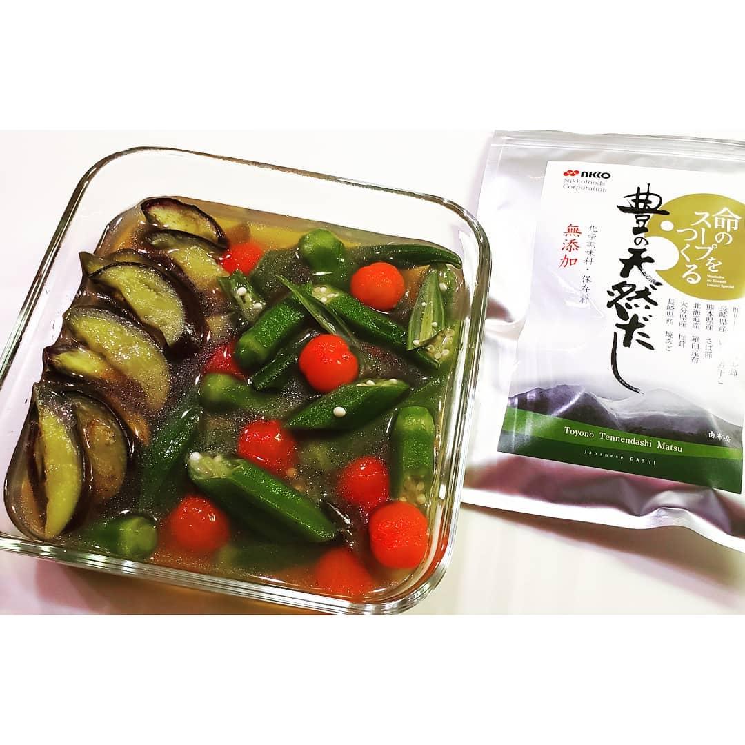 口コミ投稿:豊の天然だしを使った夏野菜の焼き浸し出汁の中に生姜汁と味醂と少量のお醤油を入れ…