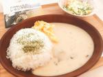 * おうちごはん.☆︎.。.Menu#牡蠣のレモンクリームライス#スクランブルエッグ#サラダ.麻布十番シリーズの、牡蠣のレモンクリームソースをライスにかけて🥄✨…のInstagram画像