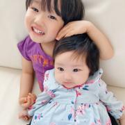 「兄妹写真」【親子で仲良しお写真♪】大切なお子様・忙しいママのための乳液!東原亜希&高橋ミカ開発の投稿画像
