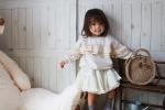 @grbirthday @tokyo_by_artpeanuts のお洋服を着用♡胸元からぐるっとたっぷりレースが可愛い♡おりりの身長でいうとワンサイズアップの90で萌え袖な感じのサイズ感…のInstagram画像