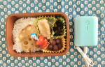 ひじきにれんこんのきんぴら、肉巻きチーズ。今朝はとんでもなく茶色いお弁当になってしまった。。。対照的な可愛いパステルカラーの四角いやつは#オウルテック の#モバイルバッテリー ◎コンパクトで軽…のInstagram画像