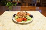 *マルトモさんのかつお節プレ節を頂き、今日の夕食に食べましたトマト・キュウリ・エリンギグレープフルーツ・ブドウのサラダですふんわりとして美味しい💕薄さ約25ミクロン…のInstagram画像
