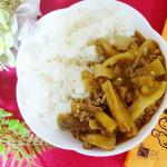 、茄子とひき肉のカレー🍛#健康ダイアリー#LG21アンバサダー#monmarche #野菜をMOTTO #野菜をもっと #スープ #レンジ #カップスープ #モンマルシェ #簡単 …のInstagram画像