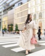 *.*.#いつコ .。.❁*.*.銀座でお買い物してたときの♪最近、お団子のハーフアップがマイブームだよ☺️♥。・゚☑︎ bag : @select_shop_juli…のInstagram画像