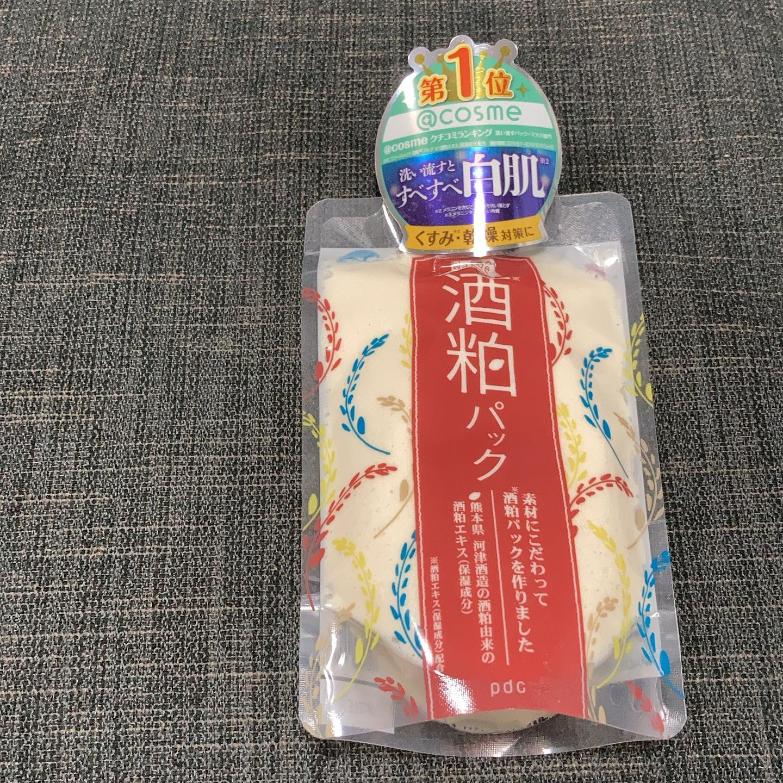 口コミ投稿:@コスメ洗い流すパック部門で1位を獲得のWafood Made 酒粕パックをモニターで使って…