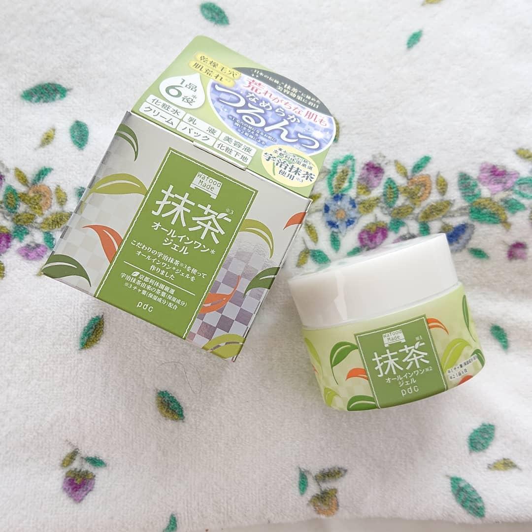 口コミ投稿:pdcワフードメイド抹茶オールインワンジェル🍵一つで化粧水、乳液、美容液、クリー…