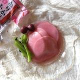 カリカリ小梅で春みたいなピンクの大根手鞠。の画像(4枚目)