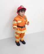..はあ🥺可愛い..2歳なってすぐぐらい😌...小さい時からずっと消防士👨🚒さん大好きだから、写真マグネット🧲つくったよ💁🏻♀️...#みんなのバッジ …のInstagram画像