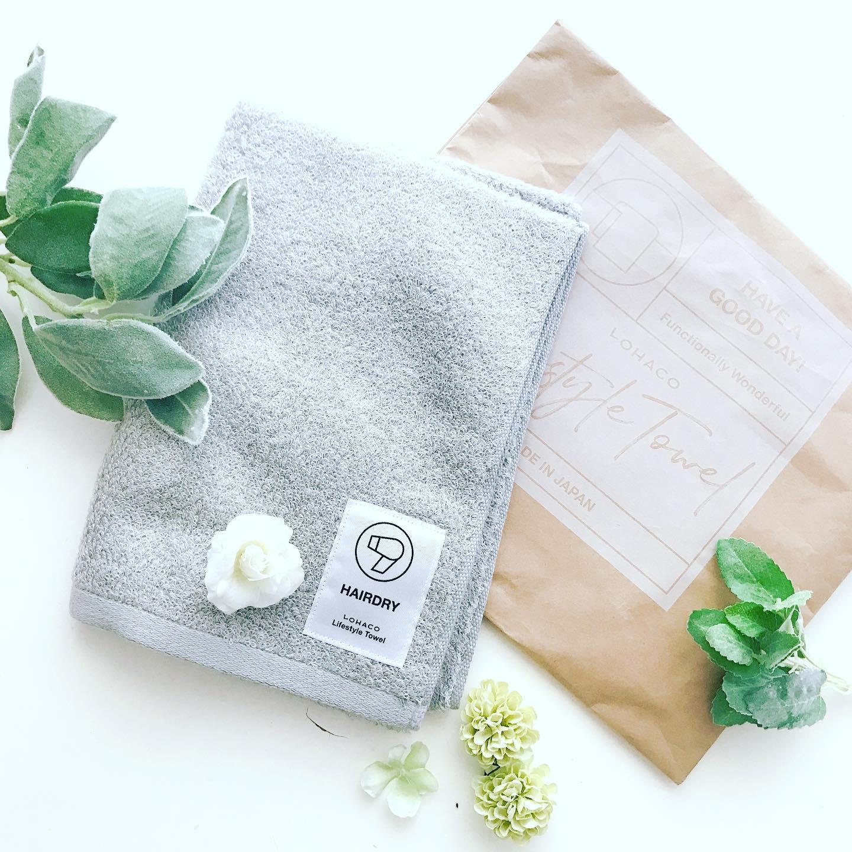 口コミ投稿:今日は今治タオル LOHACO lifestyle towel ヘアドライ用をお試ししました❤️LOHACO li…
