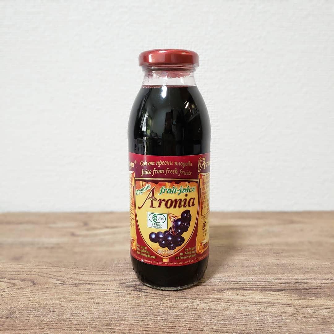 口コミ投稿:.さびないカラダのために.有機アロニア100㌫果汁🍇抗酸化力が高く、ポリフェノールや…