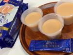 最近の簡単ゼリー。スティック1本ゼラチン5g熱湯250ml混ぜるだけで紅茶ゼリー完成!甘さはあまりないので我が家はホイップクリーム乗せたり熱湯を少なくして豆乳にしたり…のInstagram画像