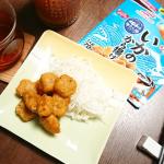 #マルハニチロ さんの#海から揚 を肴に晩酌~♪..これ、美味しくてめっちゃ便利!なんと、日本唐揚協会監修、でございます。冷凍庫から取り出して、パッケージをちょっぴり開封、レンジ…のInstagram画像