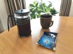 KEY COFFEEスペシャルブレンドりょーちゃん家は、フレンチプレス派お借りしまーす。#KEYCOFFEE#100人ドリップ#おうちカフェKEY#おうちカフェ…のInstagram画像