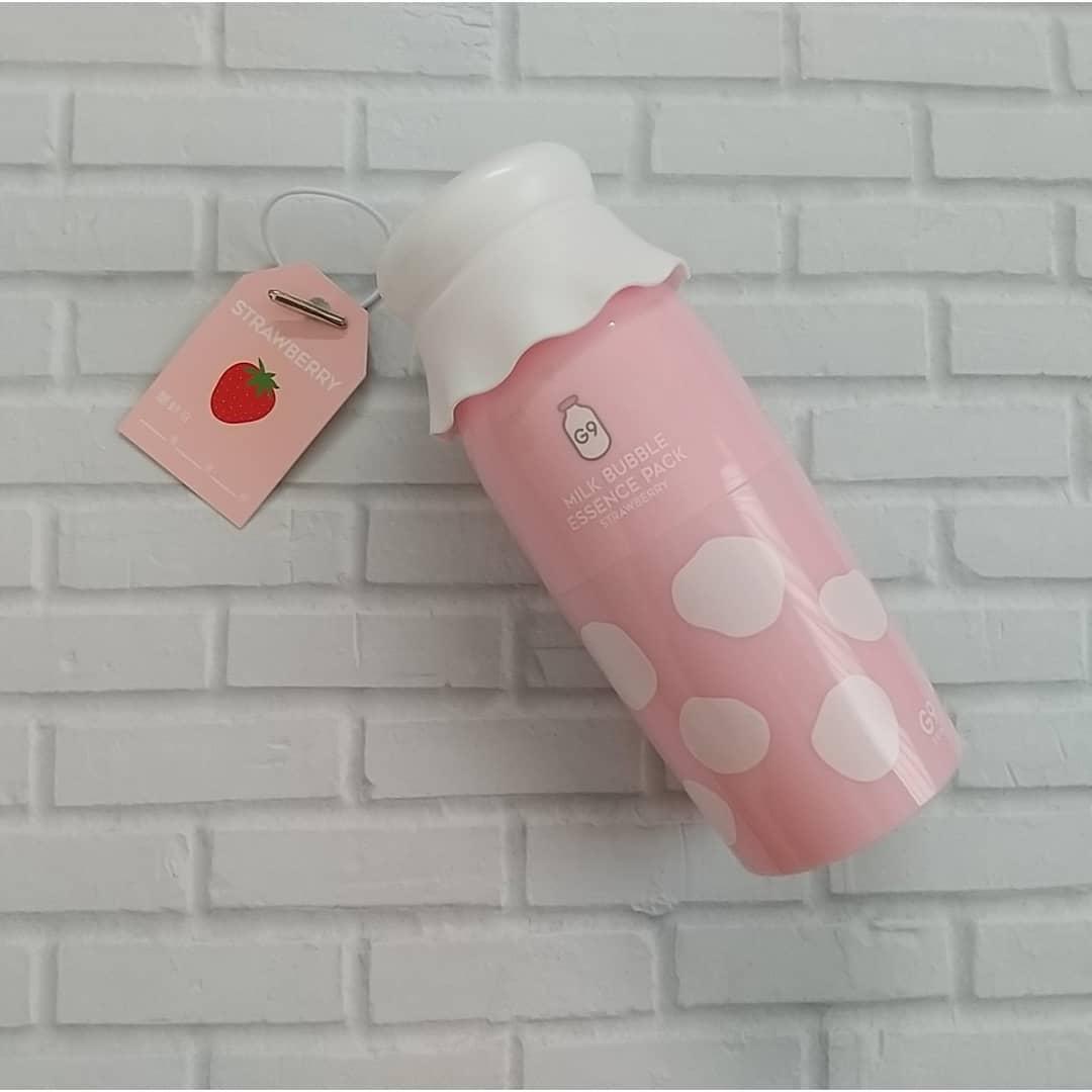 口コミ投稿:ミルクバブルエッセンスパックパッケージがかわいすぎて娘が反応していました🍓イチゴ…