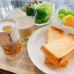 ✨✨✨☆ SUNSTAR ☆☆ 健康道場 飲む一膳分 ごまプラス ☆ゆっくり寝てたから朝と昼を一緒に。ごまプラスも一緒に。ごまプラス✨のごま…のInstagram画像
