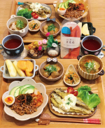 𓅿✎キムチアボカド納豆丼on @sanko_niigata様に頂いた松前漬け✎ししゃもの唐揚げonタルタルソース✎豚汁✎3色ナムル✎里芋の煮っ転がし✎りんごと…のInstagram画像
