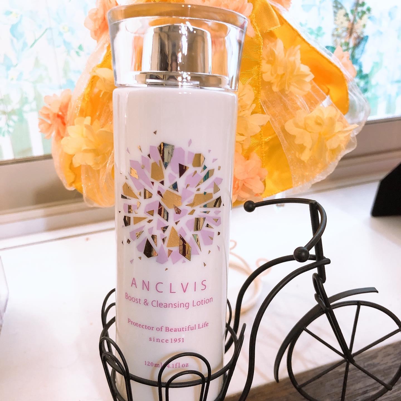 口コミ投稿:忙しい時にANCLVISの「毛穴ふきとり化粧水BCローション」をさっさと顔を拭くだけで、…