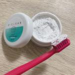 .O-CLEARのトゥースホワイトパウダーで歯がツルッツル🦷✨これのツルツル具合は感動🥺キュッと音がなる♡♡乾いた歯ブラシにつけてみがくだけ🥰泡立たないので…のInstagram画像