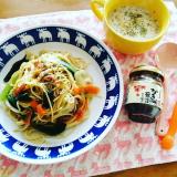 「かき醤油海苔佃煮でご飯が何杯でも食べられます(◍•ᴗ•◍)」の画像(4枚目)