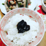 「かき醤油海苔佃煮でご飯が何杯でも食べられます(◍•ᴗ•◍)」の画像(2枚目)
