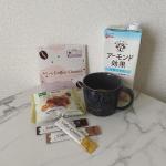 ..ワッフルとキャラメルラテな朝ごはん😊キャラメルラテはモニプラでモニター当選していただいたDr.Coffeeです☕️.Dr.Coffeeにはコーヒーに含まれるカフェインの脂肪燃焼…のInstagram画像