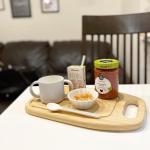 .ある日の朝ごはん。米っ子な息子は蒸しパン、ケークサレ、パンケーキ🥞全部だめ。→私の調理の仕方がわるいのかな?朝はライスシリアルが多いけど、最近冷え込んだ朝はスープで水分たっぷ…のInstagram画像
