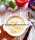 *昨日のお昼ごはんは簡単にシェフズリザーブ スープを使った簡単クッキング♪~「シェフズリザーブ」レンジでおいしい!~ごちそうスープシリーズのクラムチャウ…のInstagram画像