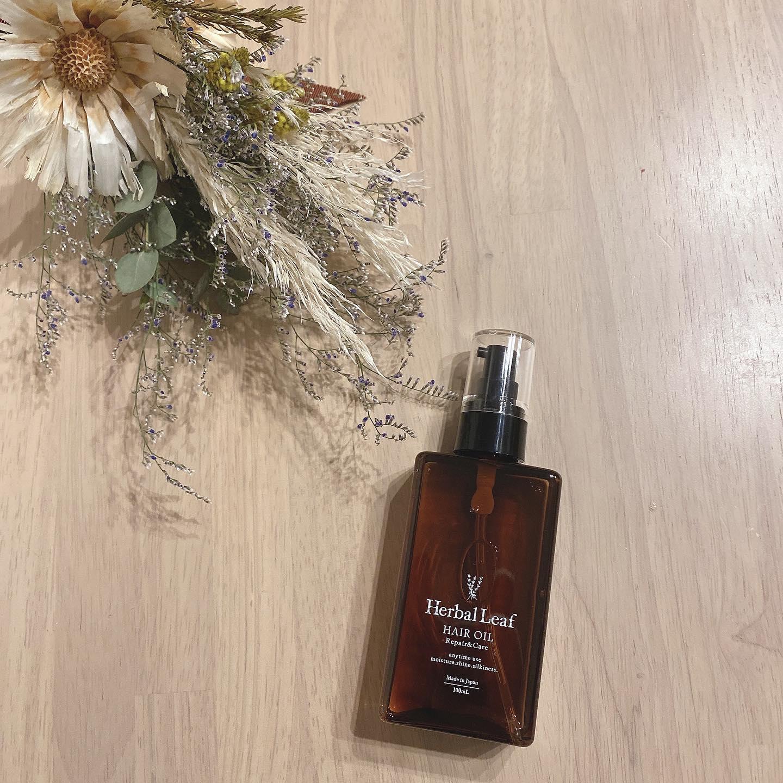 口コミ投稿:素敵なヘアオイル見つけました♡匂いもどタイプ♡ハーバルリーフです♡一応2枚目にbefor…