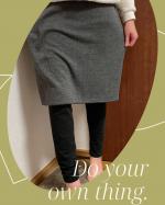 .ニッセン極厚裏起毛スカート付レギンス 🧡モニターに参加させていただきましたー😆‼️一体型で足も腰まわりもあたたかくてポカポカ✌️✨写真2枚目が裏地で、スカ…のInstagram画像