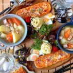 2020/12/30.#ブランチ..先日のごはーん。..フランスパンのピザと大好きなポトフ🥺♡.ポトフはみんな大好きだから次の日にもと思い大量に作るのに…のInstagram画像