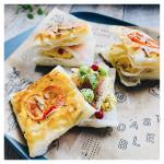 𓊗枝豆と海苔チーズのミニデニッシュひとくちおつまみパイマルハニチロさんの冷凍えだまめとパイシートを使ってミニデニッシュとおつまみパイを作りました♬◆パイシート…のInstagram画像