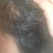 「髪をかきあげると白髪」★新商品モニター★白髪・薄毛を隠せるヘアファンデーション使って画像投稿~の投稿画像