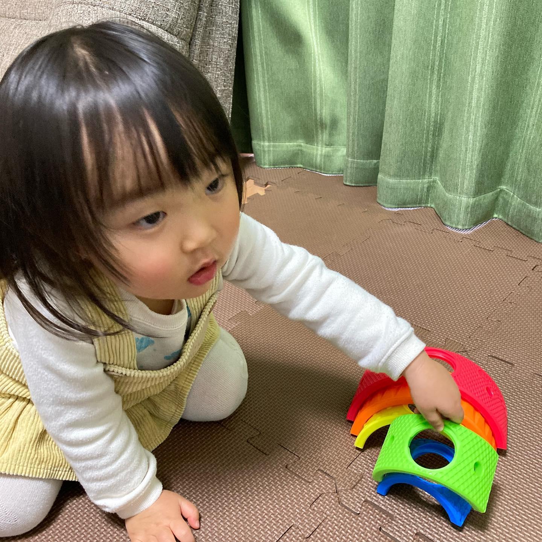 口コミ投稿:フランス生まれのカラフルなおもちゃ。#ララブーム 13ピース レインボーセット虹のよ…