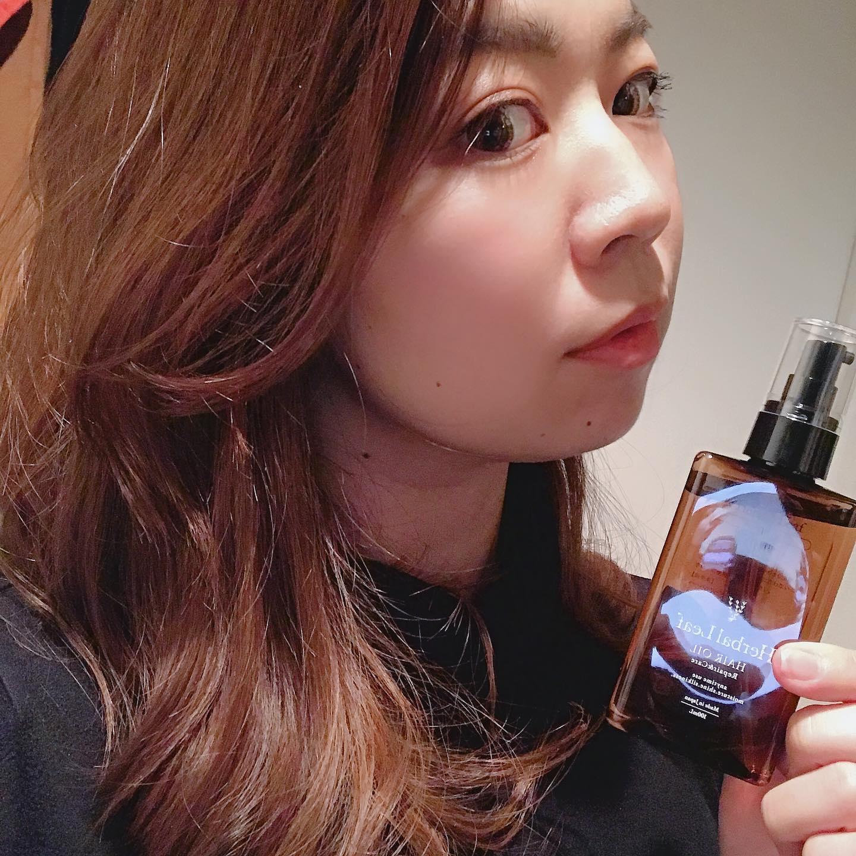 口コミ投稿:New hair oil【ハーバルリーフ】柑橘系の香りが癒される〜♡このオイル、サラサラして…