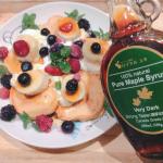 #株式会社ロイヤルユキ からメープルシロップもういっちょ💡こちらの#おこめとトマトのパンケーキ 粉 に#おからパウダー もプラスして、卵と豆乳で溶いて焼きまして🥚#ミッ…のInstagram画像