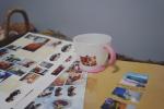 モニターで家族のシールを作らせて頂いているみんなのシール✨久しぶりにシール作成しました^ ^💖娘の保育園グッズのコップと、私達のホテル#hoteltowaie のネタ帳(企画〜建築段階や内…のInstagram画像