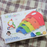 口コミ記事「いろいろな組み合わせ方を楽しめる知育玩具【ララブーム13ピースレインボーセット】」の画像
