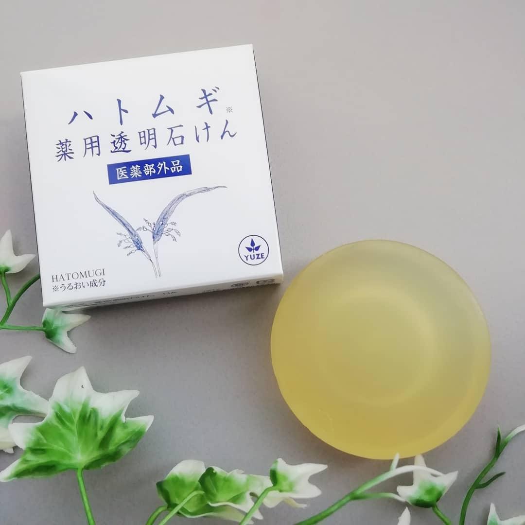 口コミ投稿:ハトムギ 薬用透明石けん 医薬部外品90gハトムギ化粧水などよく見かけますが、こち…