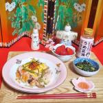 正田醤油 様のmoniplaブログモニター2回目の投稿ですひと味早い🎎ひな祭りほうれん草のおひたしに【正田醤油・おちょぼ口正油】を使いましたキレイな梅の色をお伝えしたくて🌸桜の豆皿…のInstagram画像