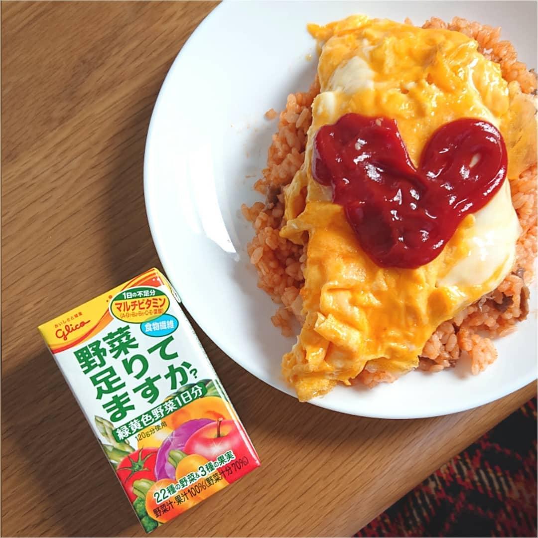 口コミ投稿:お昼ごはんは、オムライスでした😋(やっぱり午前中から動けず💦)野菜不足になりがちな…