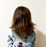髪伸びたよ〜!! オールインワンシャンプーの楽さにハマる!! 自分で寄り目ムービーだよ〜ん(^_^)v #mar18#hiyostagram #47monthsold #3y11m #3yea…のInstagram画像
